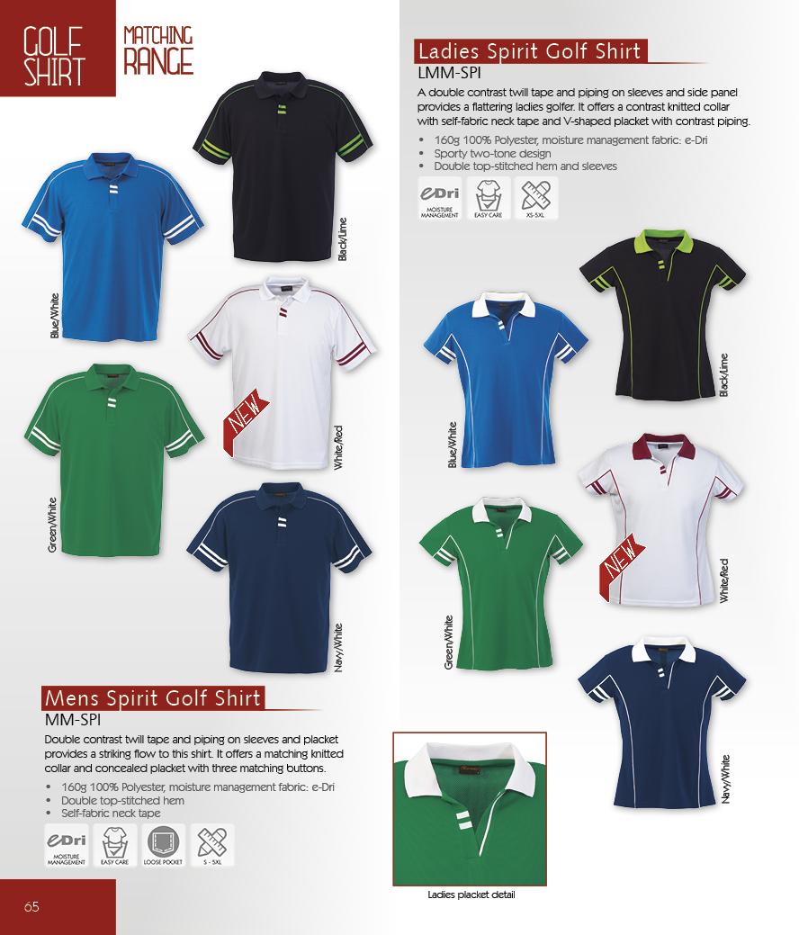 d87638430 Mens & Ladies Spirit Golf Shirt Code: MM-SPI
