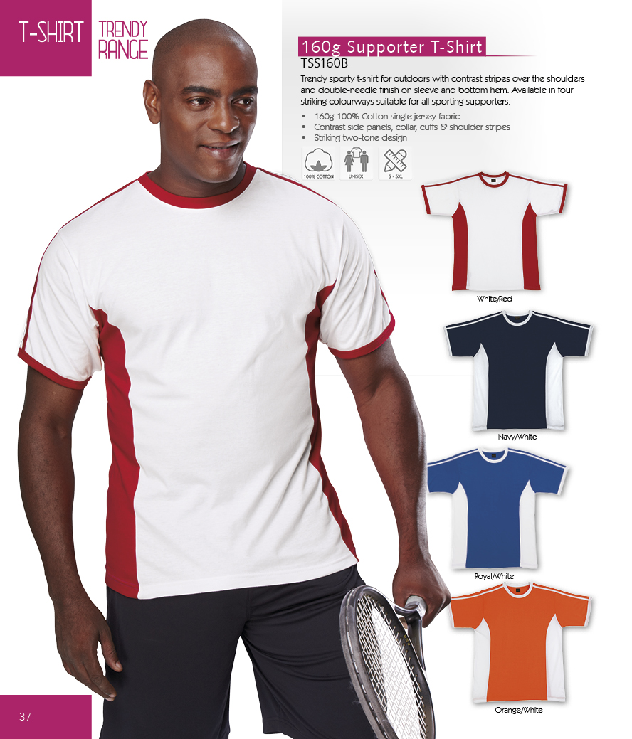 Shirt design and colour - Striking Two Colour Design 190g Ladies V Neck T Shirt Code Tsv190